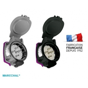 PN Prise de charge courant continu 24 V - IP55 - grise