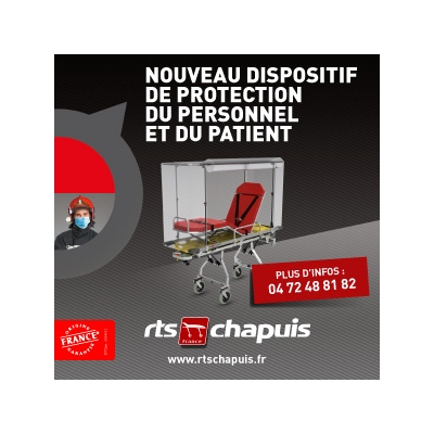 Dispositif de protection COVID-19 pour brancards